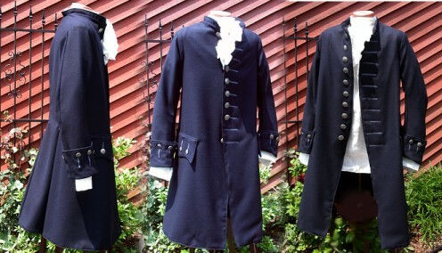 1790's Civilian Style Wool Coat