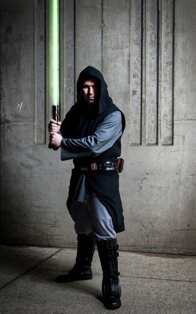 Custom Dark Jedi Linen and Cotton Costume