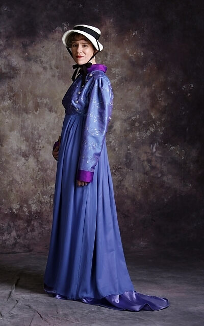 Custom Jane Austen style gown and Spencer Jacket