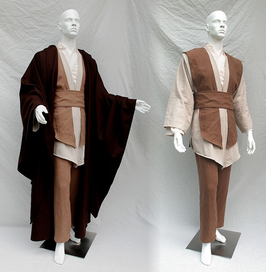 Custom Jedi Costume with Mace Windu Robe