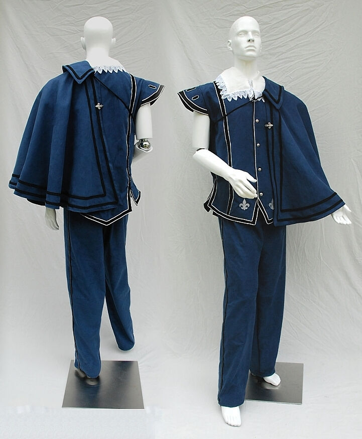 Custom Blue and Silver Fencing Outfit with Cape
