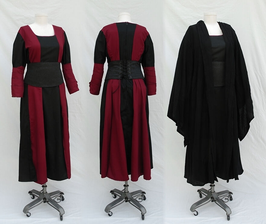 Custom Sith Dress and Waist Cincher