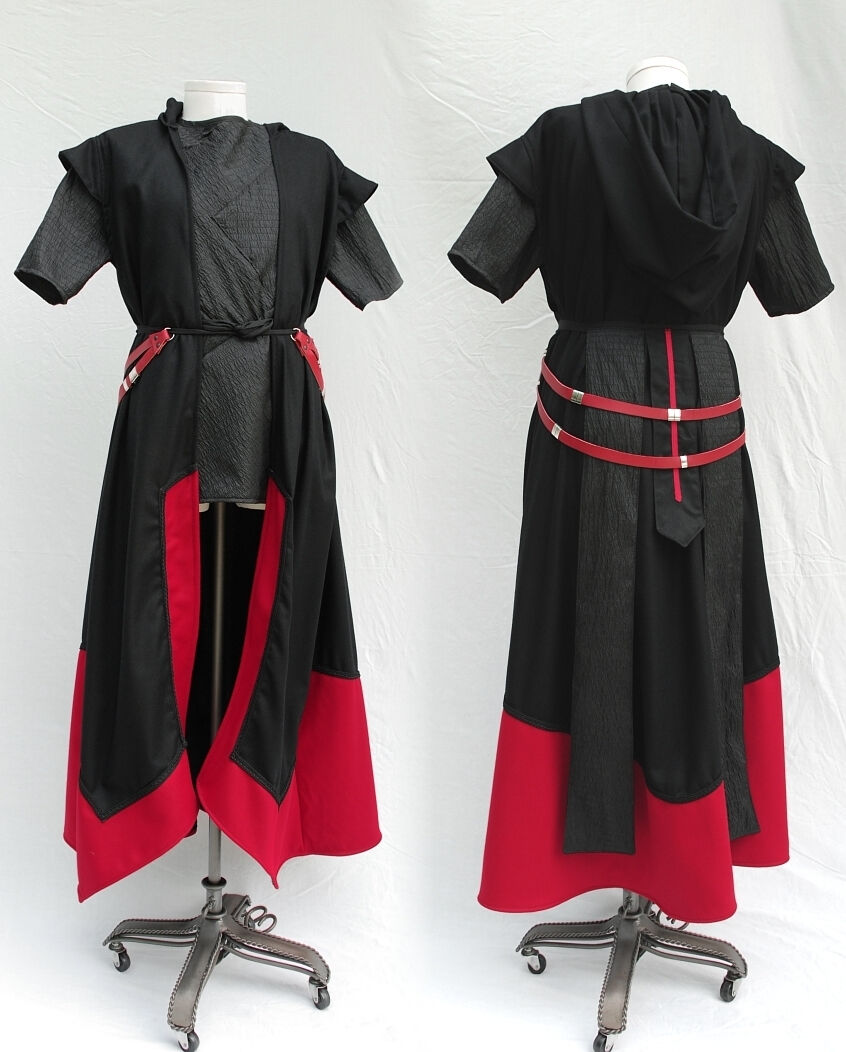 Custom Sith Style Outfit with Red Leather Belting