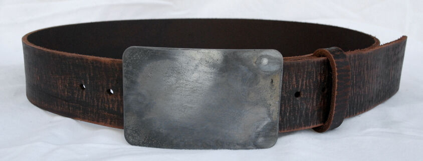 Distressed Aged Leather Belt
