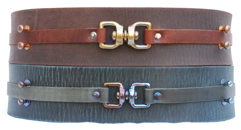 Distressed Jedi and Sith Style Leather Belts