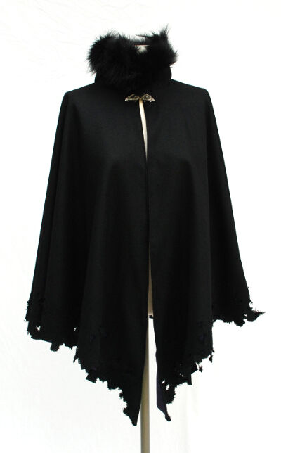 Distressed Raven Cape
