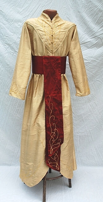 Elrond Style Embroidered Silk Ensemble
