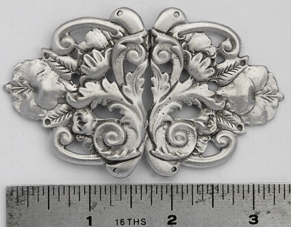 Flowers and Leaves Renaissance Cloak Clasp
