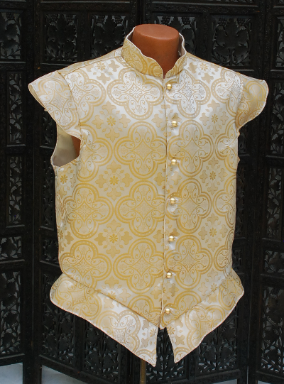 Gold and Cream Brocade Doublet