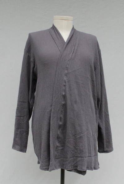 Grey Crinkle Cotton Inner Tunic