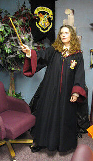 Gryphondoor Style Burgundy and Black Wizard School Robe