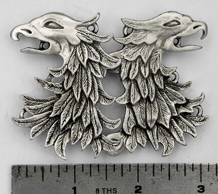 Gryphon or Griffin Solid Pewter Cloak Clasp