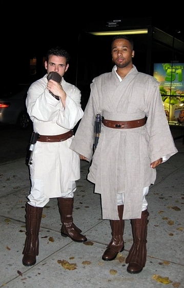 Nick and Hannibal in Custom Jedi Outfits