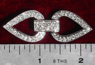 Hearts and Bar Rhinestone Wedding Clasp