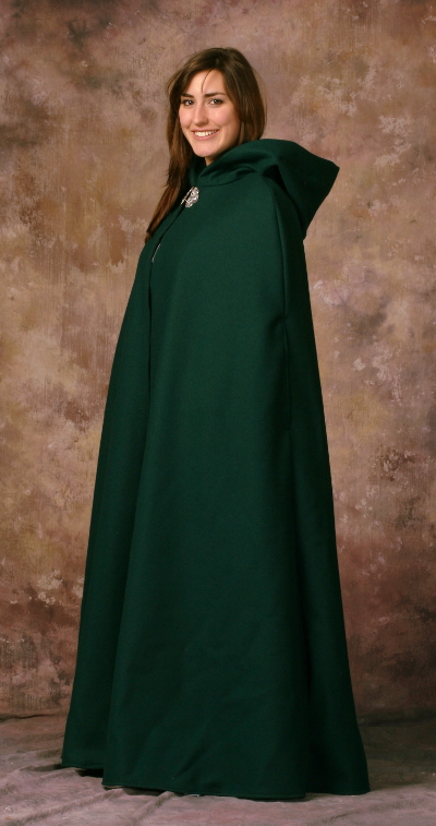 Hunter Green Wool Melton Cloak