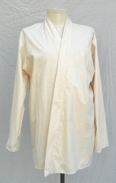 Ivory Shirt Weight Cotton Jedi Style Inner Tunic