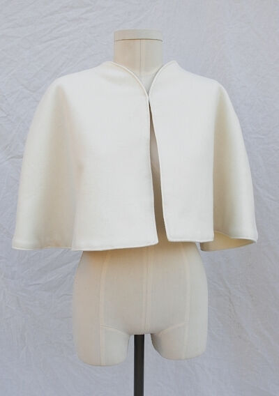 Ivory Melton Cape or Wrap