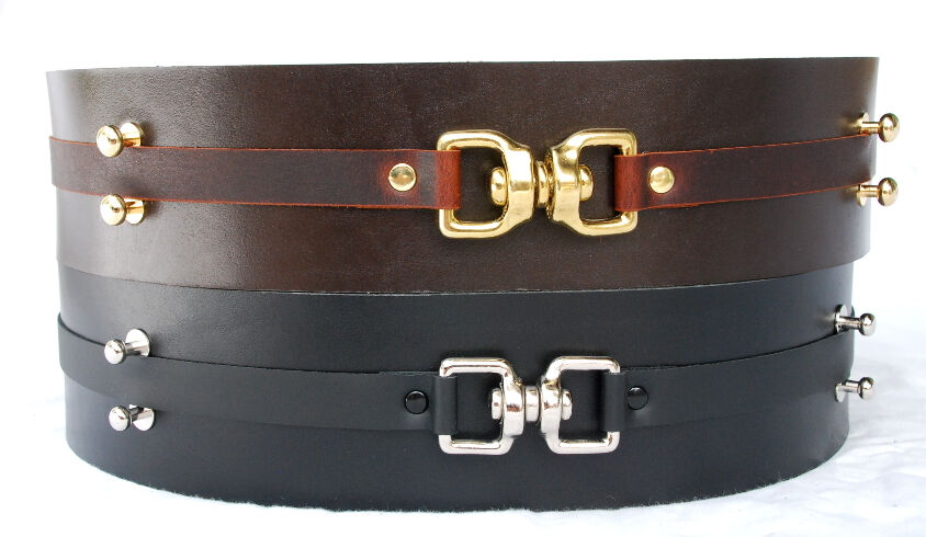 Jedi Style Leather Belts in Browns and Blacks