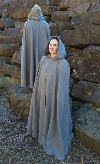 Lady of the Mists Wool Flannel Cloak
