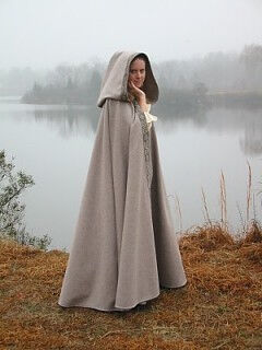Heathered Gray Wool Melton Cloak