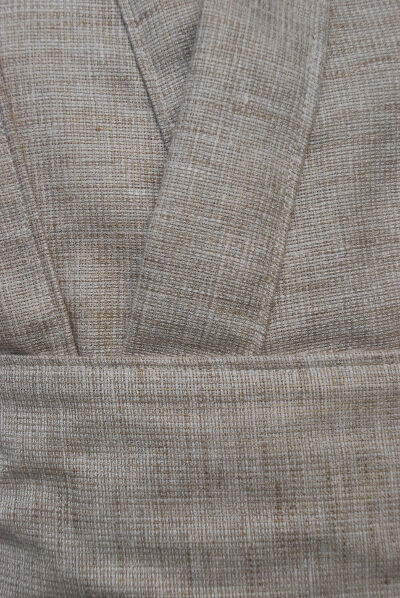 Linen Look Poly/Cotton Blend Tunic Set Fabric Detail