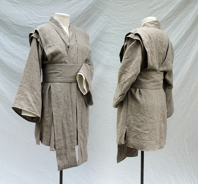 Mace Windu style outfit in linen and cotton