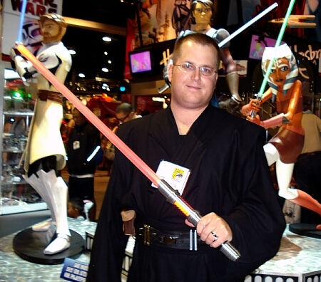 Adam at ComiCon in custom created Sith Ensemble Costume