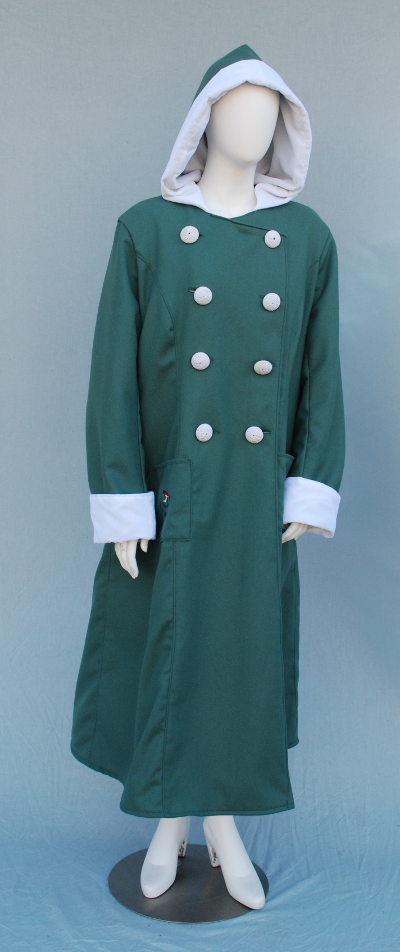 Mistletoe Embroidered Sage Wool Coat