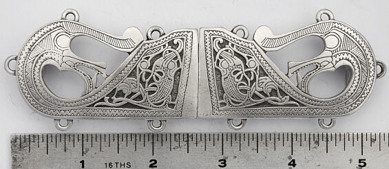 The Oseburg Pewter Cloak Clasp