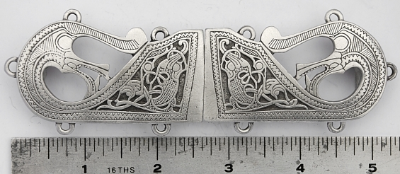 The Oseburg Solid Pewter Cloak Clasp