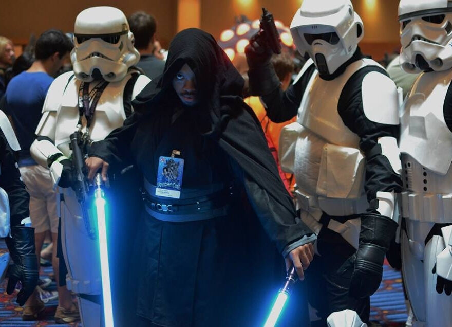 Peterson Worrell in his customized Sith style outfit at DragonCon 2013