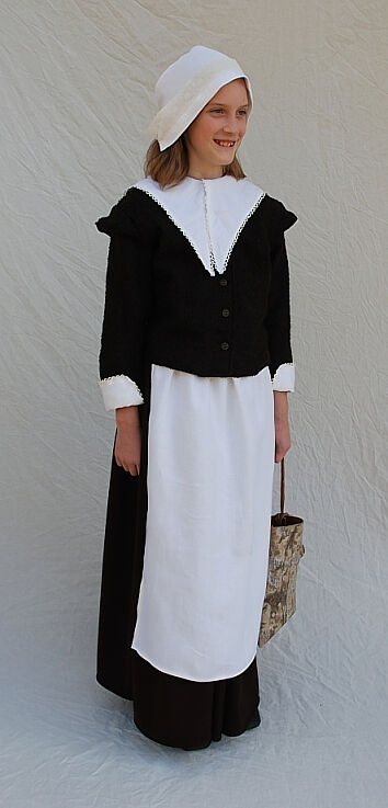 Pilgrim Girl Outfit for Book Cover