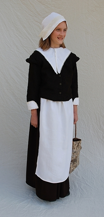 Pilgrim Girl Outfit for Sisters In Time Book Cover