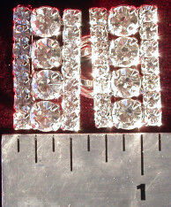 Rectangular Rhinestone Wedding or Cape Clasp