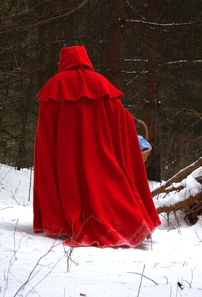 Red Riding Hood Wool Flannel Cloak