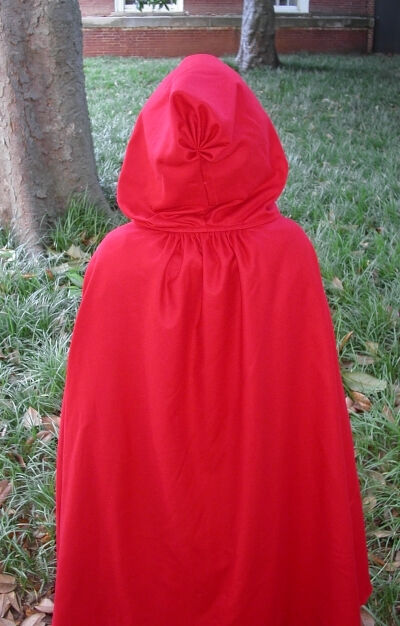 Revolutionary War Style Red Washed Wool Flannel Cape Back