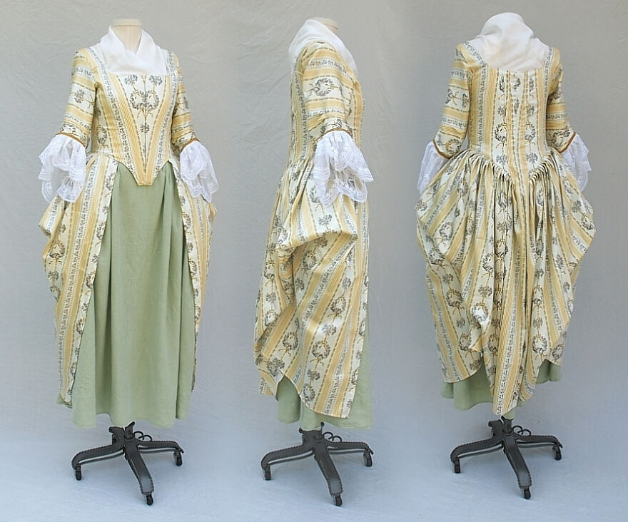 Revolutionary War Era English or Polonaise Gown Replica