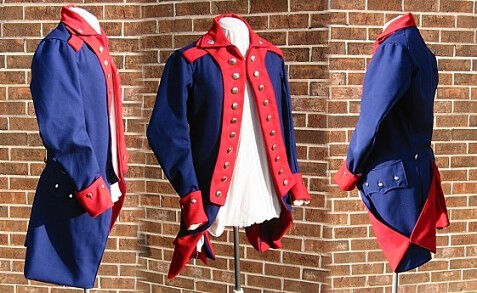 Revolutionary War Regimental Style Wool Coat