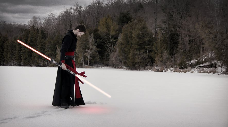 Rob Warren in his custom Sith Outfit