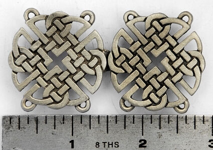 Square Celtic Knot Pewter Cloak Clasp