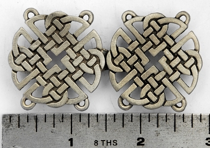 Round Celtic Knotwork Pewter Cloak Clasp