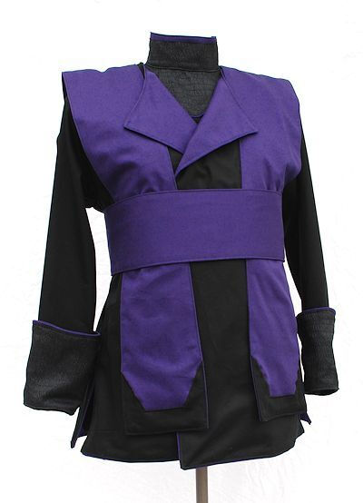 Black and Royal Purple Custom Tunic Set