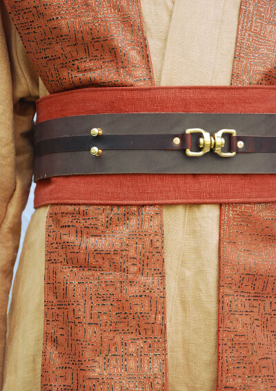Painted Leather Tabards Detail