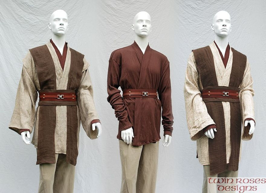 Silk and Linen Jedi Style Tunic Sets