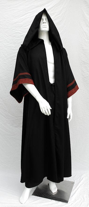 Sith Acolyte style robe with hand-painted sleeves