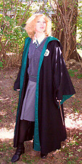 Green and Black Wizard School Robe