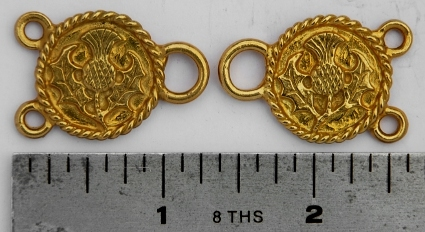 Solid Brass Scottish Thistle Lacers