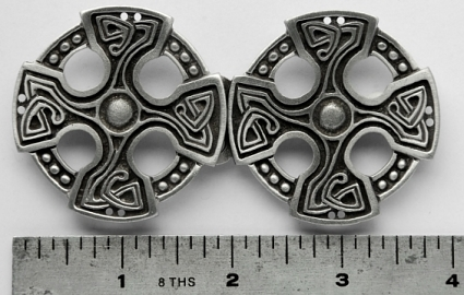 Celtic Cross Pewter Cloak Clasp