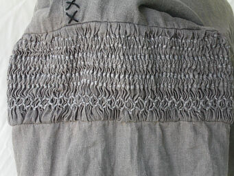 Strider Inspired Color Stripped Linen Shirt Hand Smocking Detail
