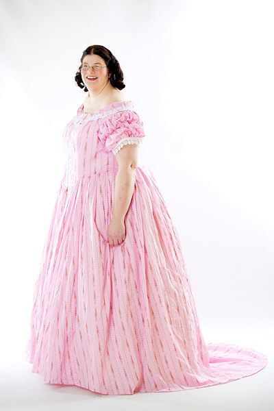 Susan in Civil War Ballgown